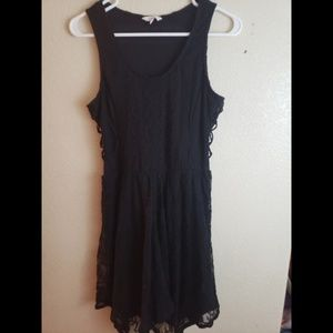 Candies Medium Embroidered Black Lace Goth Dress